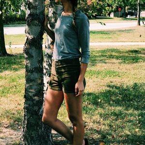 Cute fall corduroy shorts